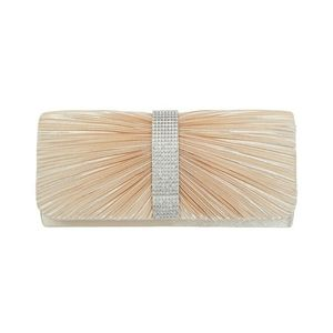 Pleated Satin Structured Evening Clutch
